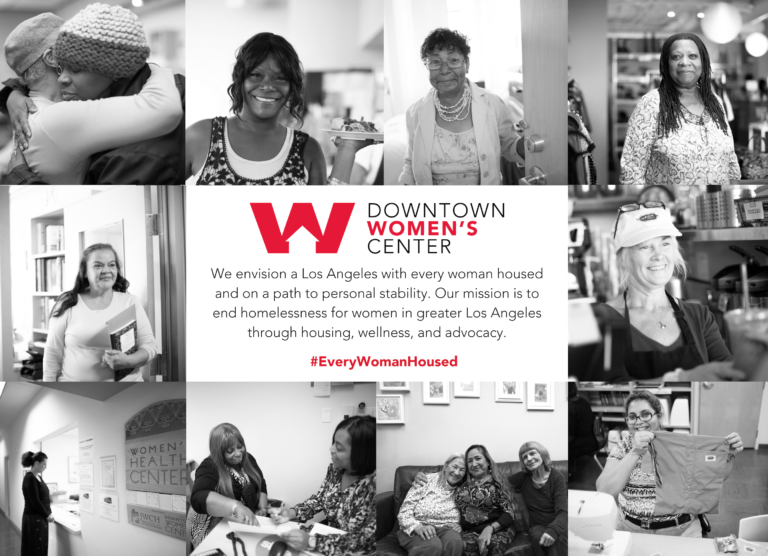 Downtown Women's Center Guide to Services Postcard