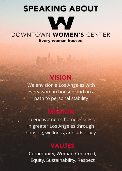Created postcard for volunteers on how to speak about Downtown Women's Center